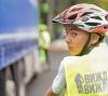 Демонстрация на безопасна интеракция между камион и велосипедисти на старта на 67-та Международна ко