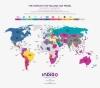 Карта на страните в света с най-популярния продаван там модел